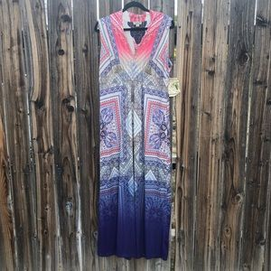One World Colorful Printed Maxi Dress